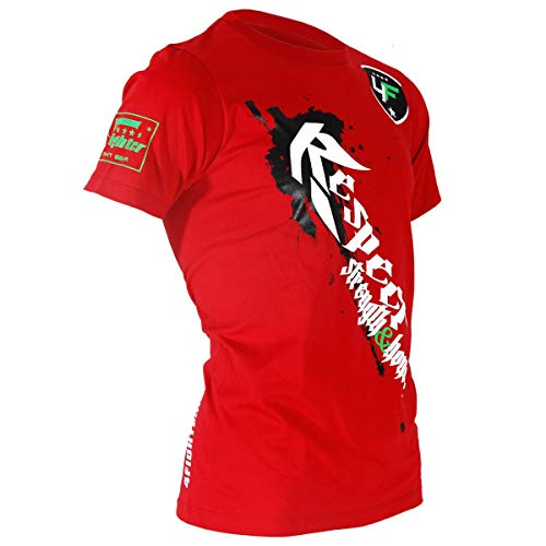 de con roja y Honor tambi respeto camiseta fuerza estampado Strength blanco and 4fighter honor q0wAE5