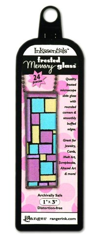 Ranger Inkssentials Memory Glass, Frosted Rectangle, 1-Inch by 3-Inch, 24/Pkg