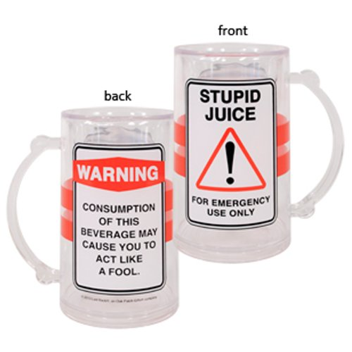 Laid Back CS13051 Stupid Juice Acrylic Tankard, 14-Ounce