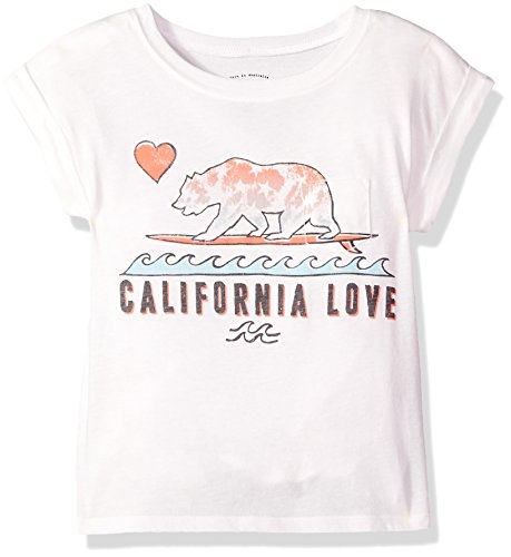 (Billabong Girls' Girls' Cali Love Waves T-Shirt Cool Wip Small)