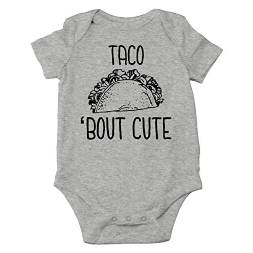AW Fashions Taco 'Bout Cute - Funny Spanish Food Pun - Nacho Average Guy - Cute One-Piece Infant Baby Bodysuit (Newborn, Sports Grey)