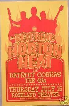 Reverend Horton Heat Detroit Cobras Concert Tour Poster
