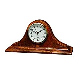 Saturn Clock - Saffron Brown Onyx