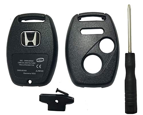 Horande Replacement Key Fob Case Fit for 2003-2007 Honda Pilot Accord Ridgeline Odyssey Civic CRV Keyless Entry Remote Key Fob Shell Cover 2+1 Buttons