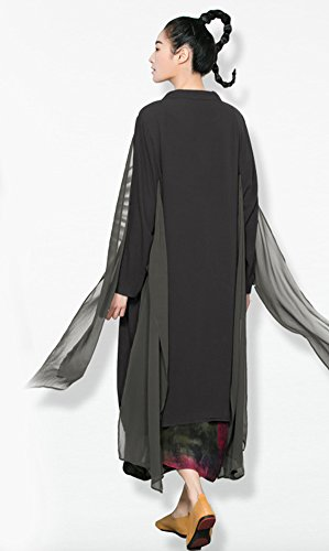 SK Studio - Rebeca - capa - Básico - Manga Larga - para mujer gris
