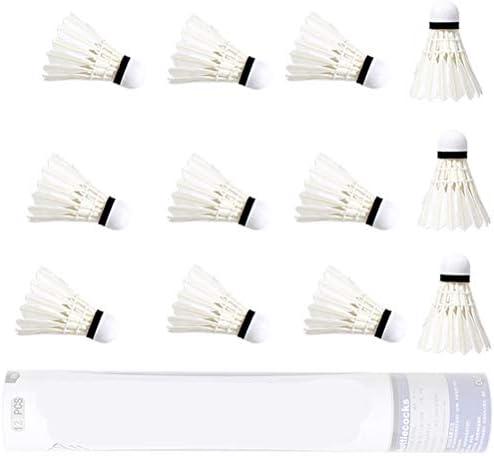 Fovor 12 volani bianchi per badminton con grande stabilit/à e durata per interni ed esterni accessori per badminton