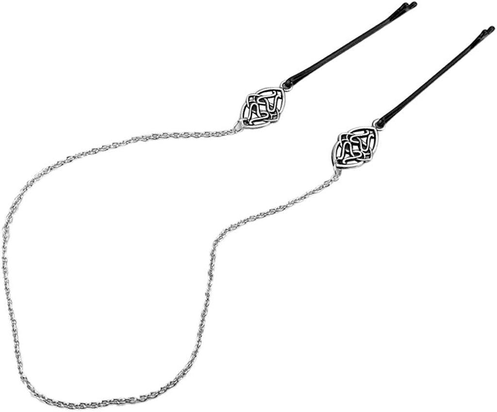 chiwanji Vikings Runes Haarnadeln Haarband Kelten Knot Haarkette Haarschmuck Kopfschmuck f/ür Frauen und M/ädchen