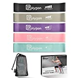 Resistance Loop Exercise Bands, Polygon Workout Flexbands for Physical Therapy, Rehab, Stretching, Home Fitness and More. Natural Latex Elastic Fitness Bands for Men & Women. Workout Guide Included