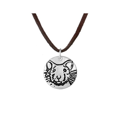 rat necklace, silver pet rat pendant, fancy rat memorial necklace, remembrance jewelry