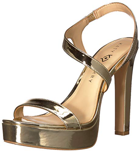 Katy Perry Women's The Naomi Heeled Sandal Champagne 7.5 Medium US