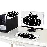 Miki Da Plastic Computer dust Cover 22''MonitorSet Pumpkin Vector Icon Solid Illustration Isolated