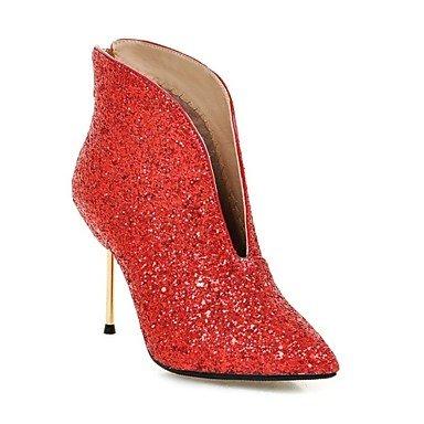 Señaló Glitter Otoño Invierno US5 Botines Toe Botas RTRY EU35 Paillette Botines Bota Moda Mujer UK3 Sequin Talón Botas Zapatos Para Bodas CN34 Stiletto De ppIqOFw