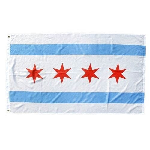 3x5 3ft X 5ft City of Chicago Flag New Illinois Il Banner w/