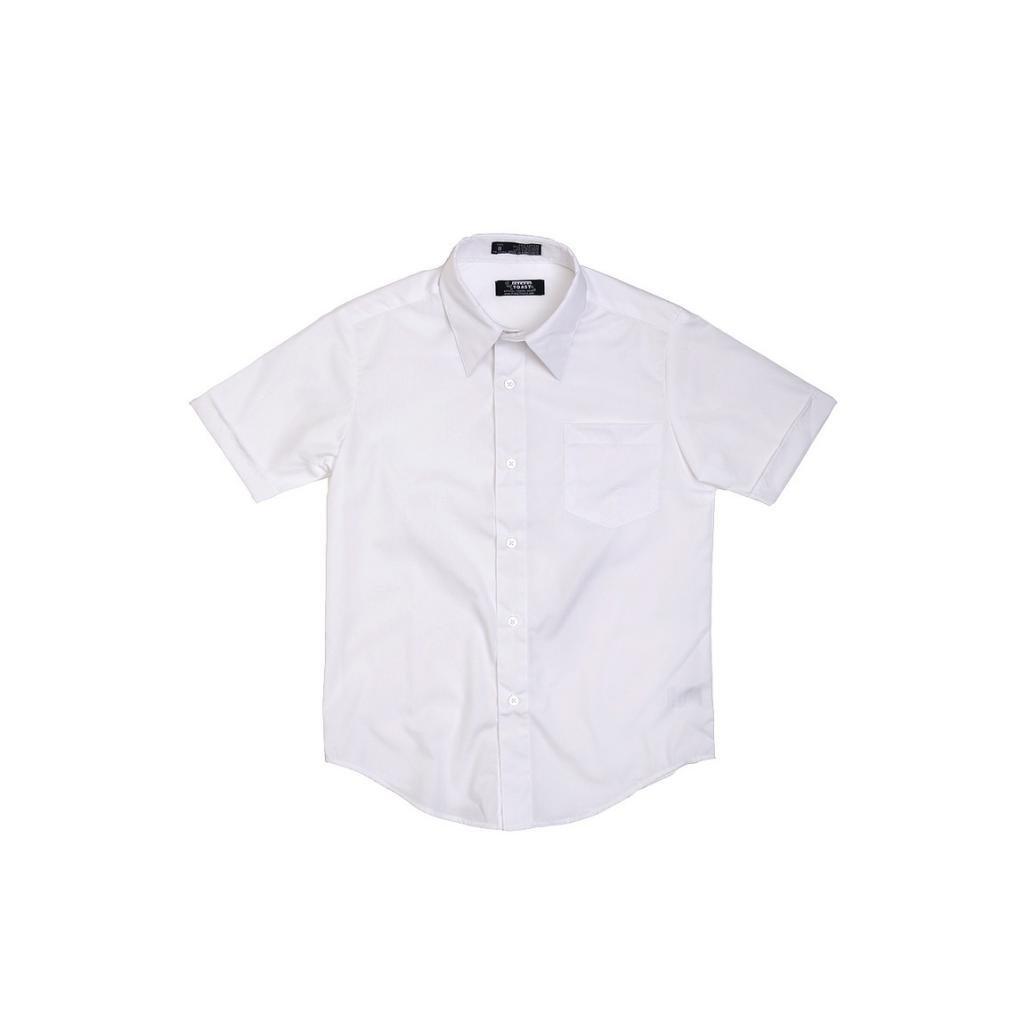 French Toast School Uniform Boys Short Sleeve Classic Dress Shirt, White, 8