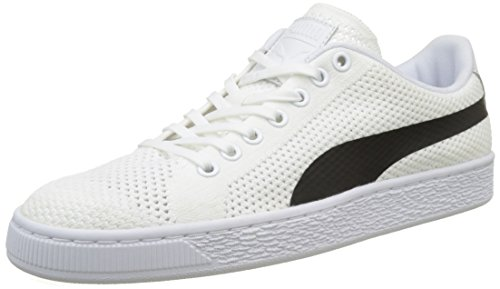 Puma Unisex Adults' Basket Classic Evoknit Low-Top Sneakers White (Puma White-puma Black 02) 13qVGb
