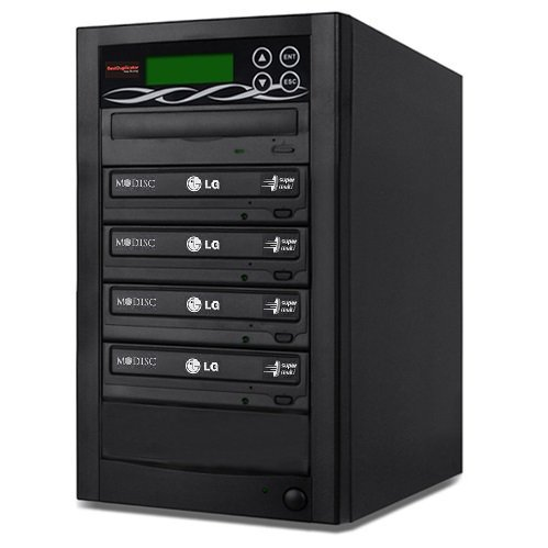Bestduplicator BD-LG-4T 4 Target 24x SATA DVD Duplicator with Built-In LG Burner (1 to 4)