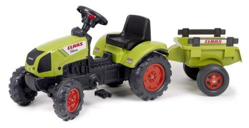 Falk - 2040C - Vélo et Véhicule pour Enfant - Tracteur - Claas Arion 410 + Remorque