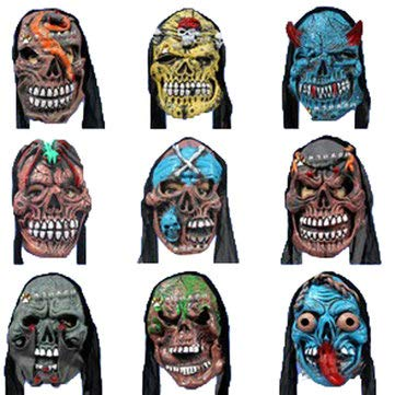 Motorcycle Motorcycle Face Mask - Masquerade Party Funny Teaser Mask Horror Scary Mask - 1X Halloween Mask