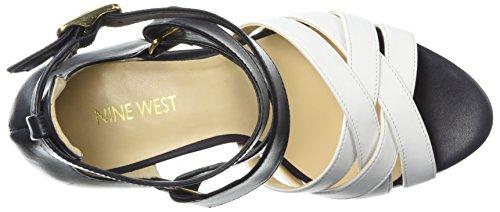 Sandalo Con Tacco In Pelle Mcglynn Delle Nove Donne Occidentali / Pelle Bianca