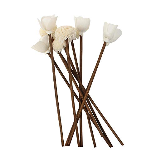 Jecengs Pack of 30 Brown Rattan Reed Fragrance Diffuser and Flower Replacement Refill Rattan Sticks -Two Different Rattan Sticks Flowers