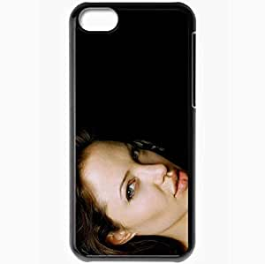 Personalized iPhone 5C Cell phone Case/Cover Skin Angelina Jolie Black