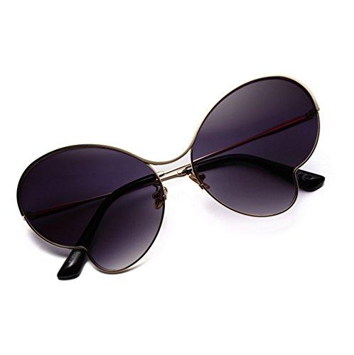 Marco Sol Ultra Mariposa Luz Transparente Metal Gafas De Color Delgada De Gafas PURPLE Sol Mujer ZYT GRAY De 0CBEq