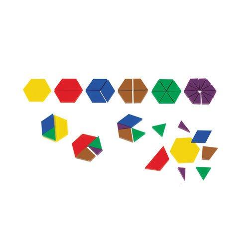 (EAI Education Fraction Pattern Blocks - Set of 700)