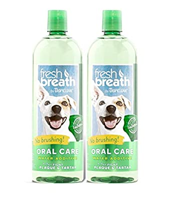TropiClean Fresh Breath Plaque Remover Pet Water Additive 33.8oz - Packaging May Vary