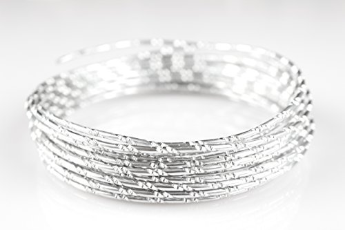 (Creacraft Beading Style Wire - Aluminium Wire with Structured Surface (Diamond Cut 1, Silver))