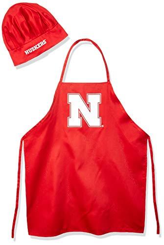 Pro Specialties Group NCAA Nebraska Cornhuskers Mens Chef Hat & Apron, Full Color Team Logo ()