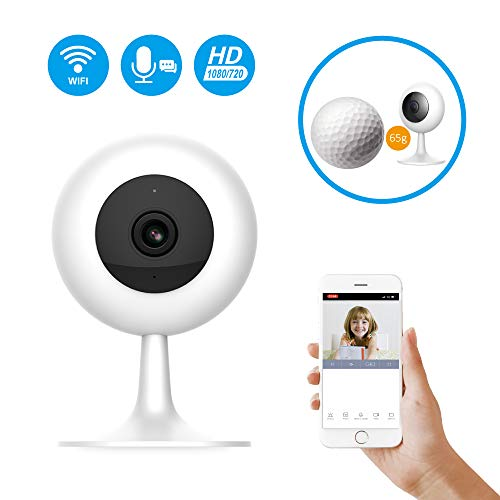 IMI Security Xiaomi Wireless WiFi Baby Camera Monitor HD 1080P/720P Indoor Security Home Surveillance Smart Webcam 2-Way Audio Night Vision Motion Detection with iOS, Android App for Baby Pet Elder