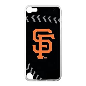 Fashion Popular Black Orange San Francisco Giants Baseball Team Sport Ipod Touch 5 Case Shell Cover (Laser Technology)