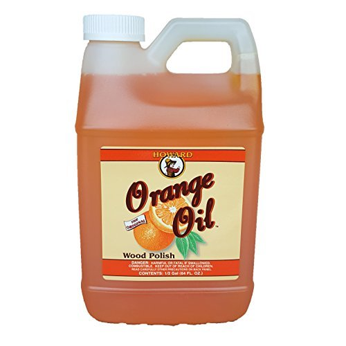 (Howard Orange Oil 64 Ounce Half Gallon, Clean Kitchen Cabinets, Best Furniture Polish, Orange Wood Cleaner )