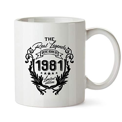 Idakoos The real legends were born in 1981 limited edition Mug