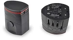 Dual USB Power Supply Socket Plug Adapter Charger US/EU/UK/AU