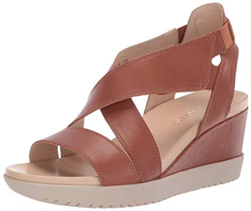 Aerosoles Women's Bloom Sandal, DK TAN Leather, 8.5 M US