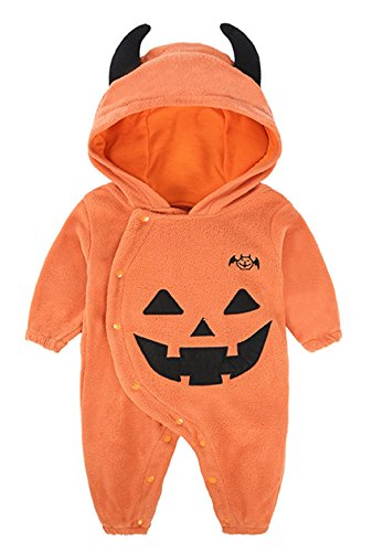 Seipe Baby Boys Girls Halloween Role Party Elf Costumes Cute Pumpkin Demon Apparel (6-12 Month)