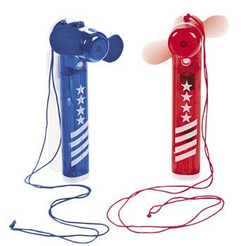 1032 Red Kitchen (Patriotic Fans With Spray Bottle - Party Themes & Events & Party Favors)