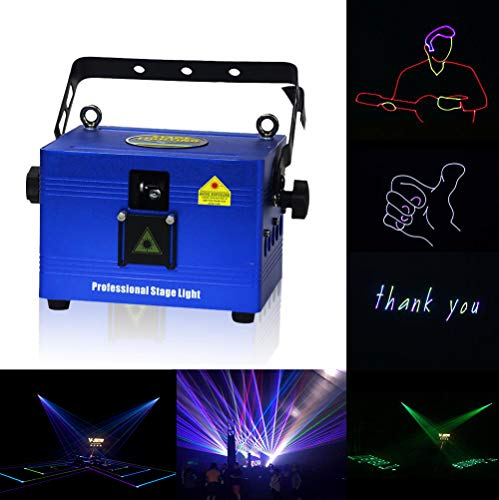 V-Show 1W RGB Animation Laser Lights Show for Party, Dmx Dj Laser Stage Lighting Effect, 16/30CH, Programmable Laser Projector Best For Disco Wedding Family Clubs Xmas RGB Lasers Show (Best Laser Light Show)