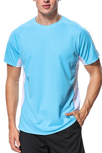 beautyin Rash Guard for Mens Sun Protection Shirts UV Sun Shirts Athletic Top M
