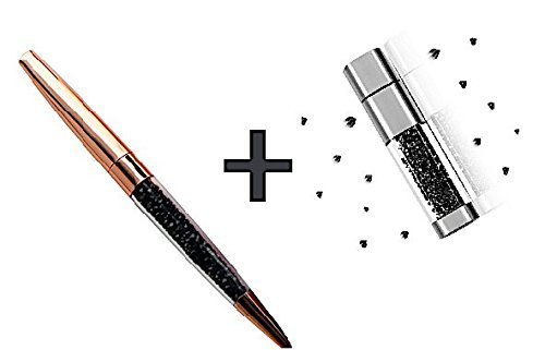 (Crystal Pen and USB - Combination 2 in 1 - Bling metal diamond mixed crystal ballpoint pen ink crystal ball pen & Crystal USB Flash Drive)