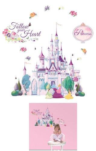 (Disney Princess self stick mini mural, giant CASTLE sticker)