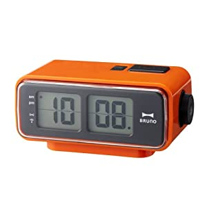 retro digital flip desk alarm clock orange home kitchen. Black Bedroom Furniture Sets. Home Design Ideas