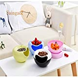 Vistaric Creative Melon Seeds Nut Bowl Table Candy Snacks Dry Fruit Holder Storage Box Plate Dish Tray with Mobile Phone Stents #GHYW: China, Green