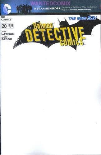 "Detective Comics #20 ""Blank Cover Variant"" pdf epub"