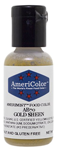 AmeriColor Amerimist Airbrush Color .65 Ounce, Gold Metallic Sheen