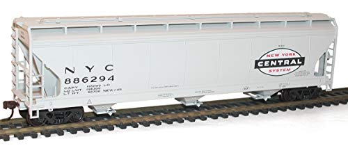 - Accurail HO Scale Kit ACF 3-Bay Covered Hoppers New York Central/NYC 3-Pack