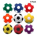 9 Pack Table Soccer Foosballs Replacements 1.42 inch Soccer Balls for Foosball Table
