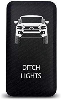 CH4X4 Push Switch for Toyota Tacoma 3rd Gen Red LED Ditch Lights Symbol 2