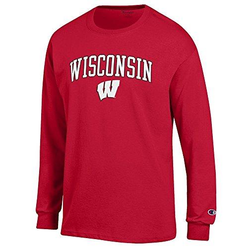 Elite Fan Shop Wisconsin Badgers Long Sleeve Tshirt Varsity Cardinal - ()